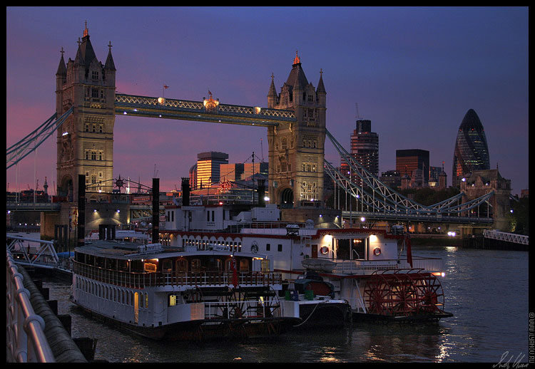 "photo ""Tower Bridge / London"" tags: architecture, landscape, sunset"