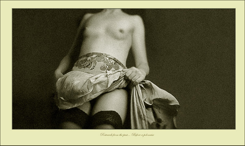 "photo ""Postcards from the past...Before a polonaise"" tags: glamour, portrait, nude, woman"