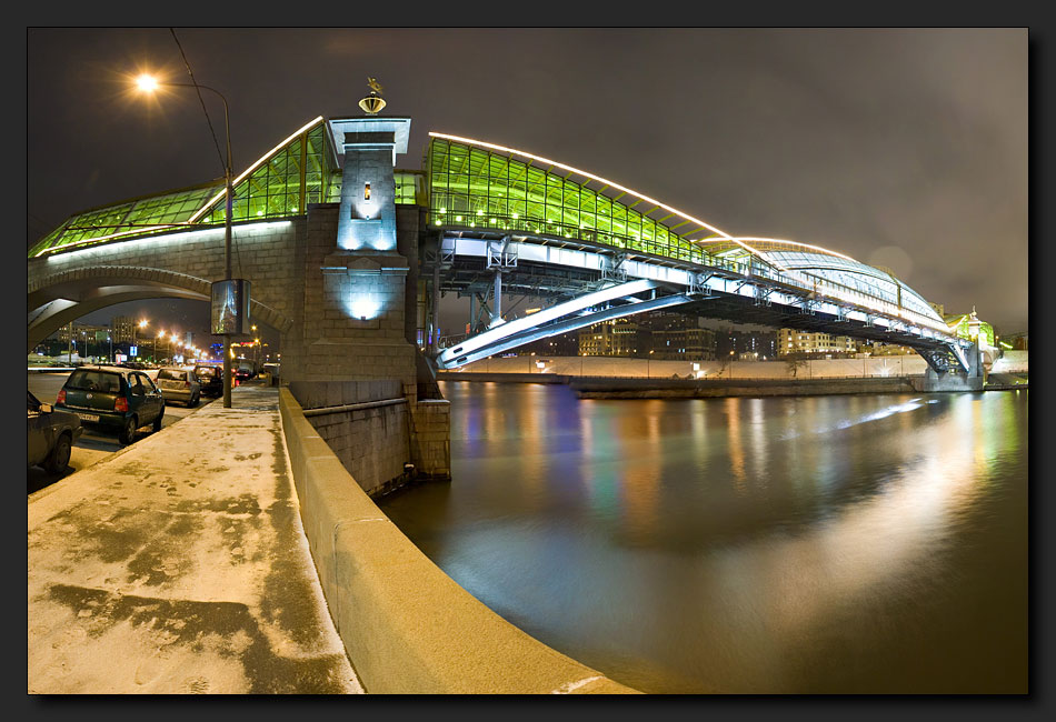 "photo ""The bridge"" tags: landscape, architecture, night"