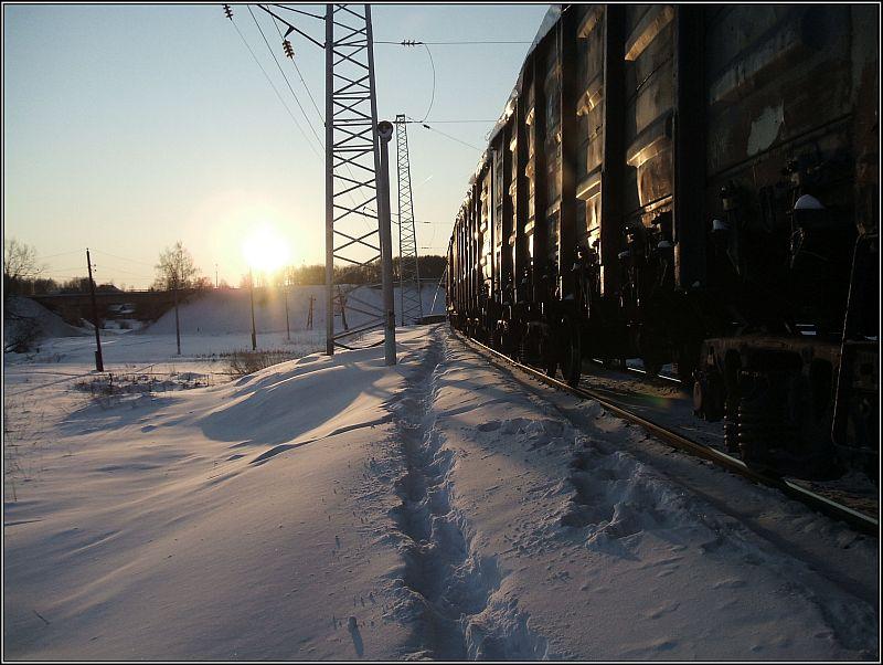 """фото """"Зимний поезд."""" метки: пейзаж, зима"""