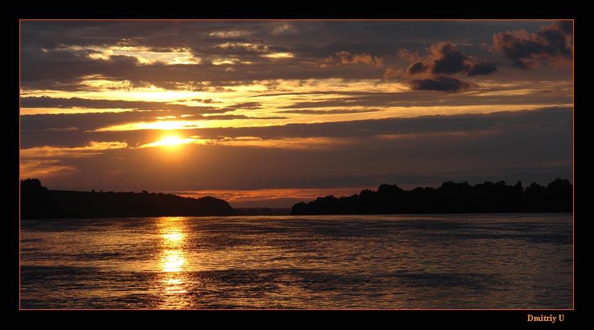"фото ""Закат на Оке"" метки: пейзаж, вода, облака"