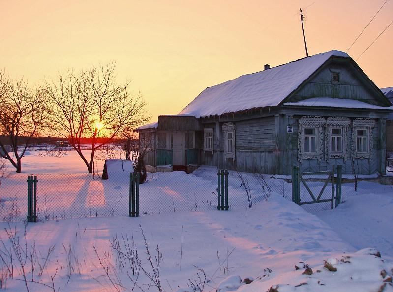 """фото """"Двадцать один градус мороза"""" метки: архитектура, пейзаж, закат"""