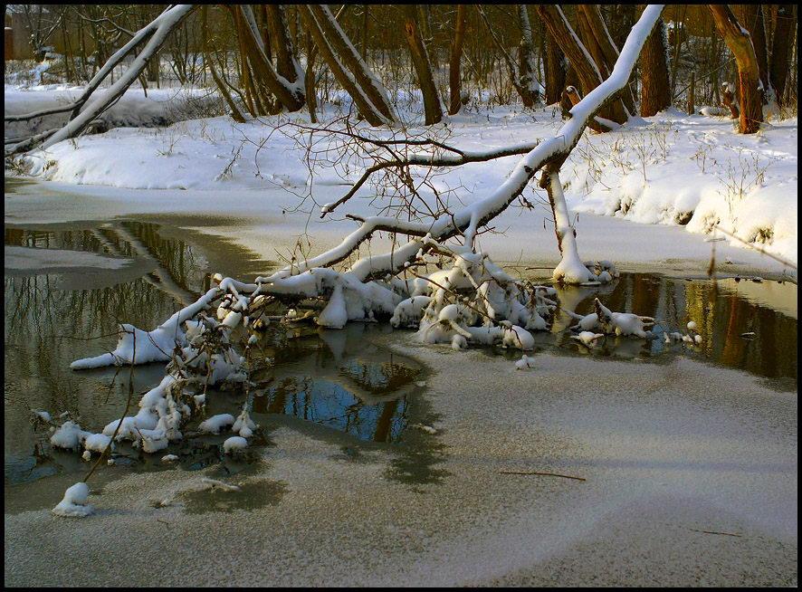 """фото """"речка Сетунь, Переделкино"""" метки: пейзаж, зима"""