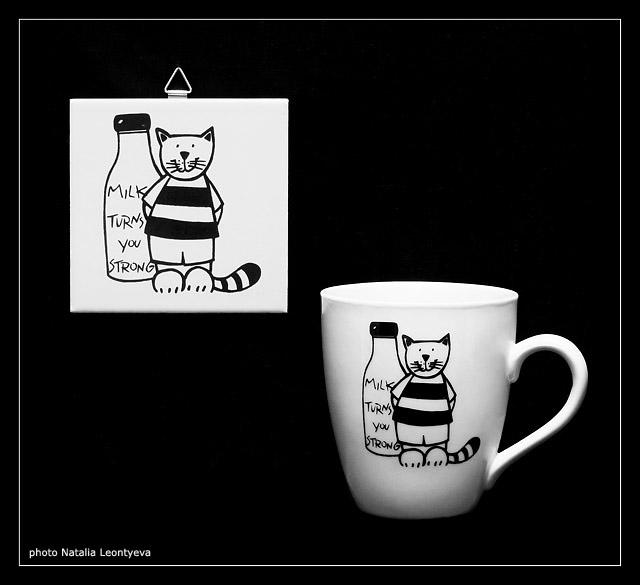 "фото ""Milk turns you strong"" метки: натюрморт, черно-белые,"