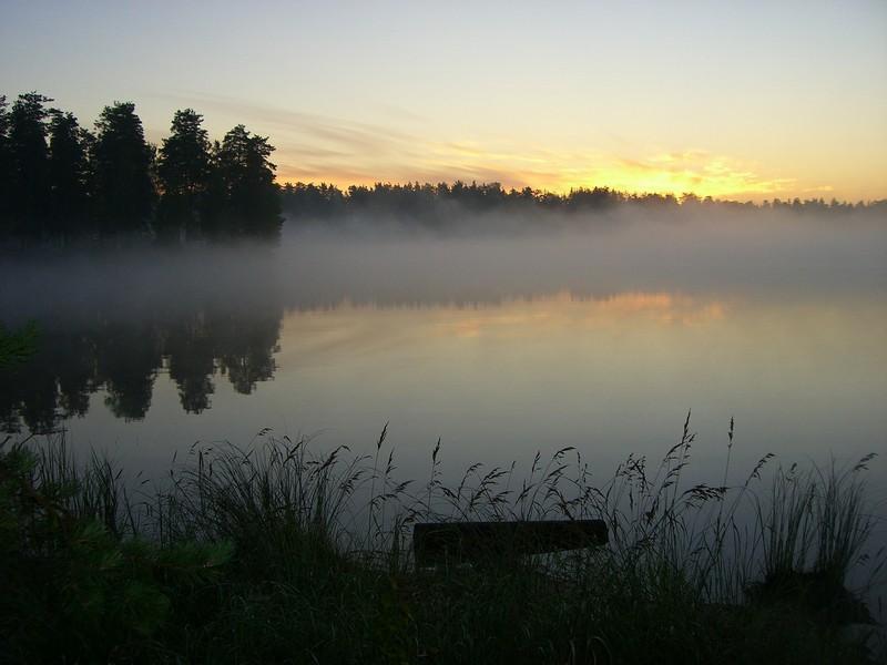 """фото """"туман над озером"""" метки: пейзаж,"""