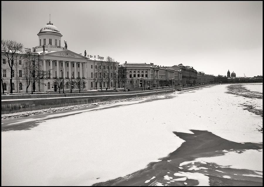 """фото """"Малая Нева, февраль"""" метки: архитектура, пейзаж,"""