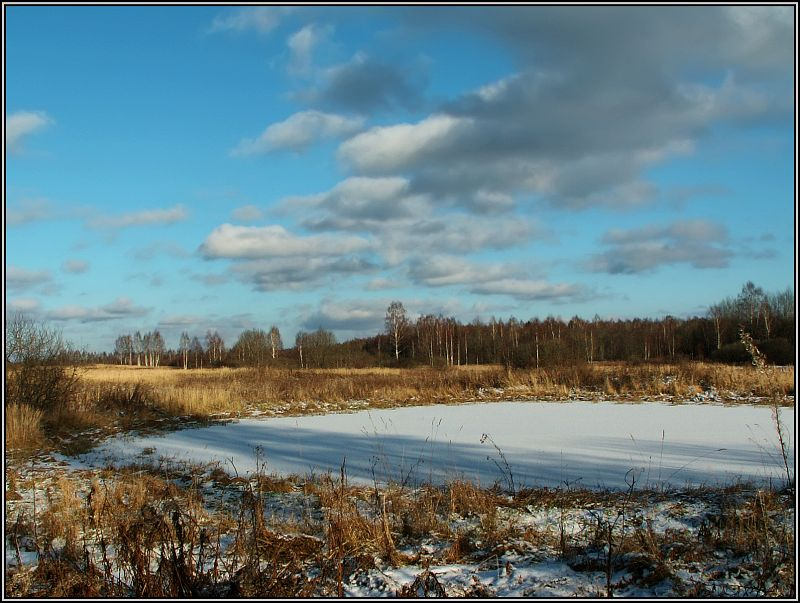 "photo ""Clouds fly"" tags: landscape, winter"