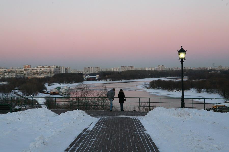 "фото ""Вдвоем"" метки: архитектура, пейзаж, закат"