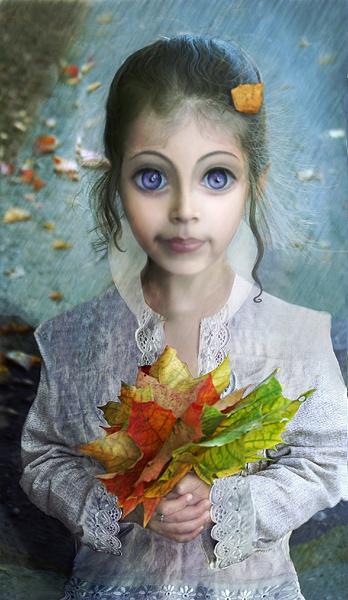 """фото """"Осенний эльфик"""" метки: фотомонтаж,"""