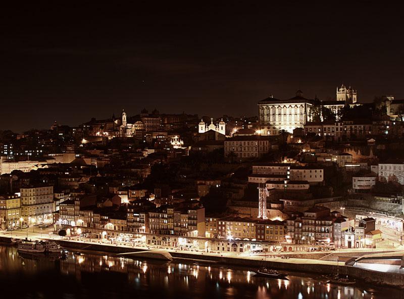 """фото """"Porto by Night"""" метки: пейзаж, ночь"""