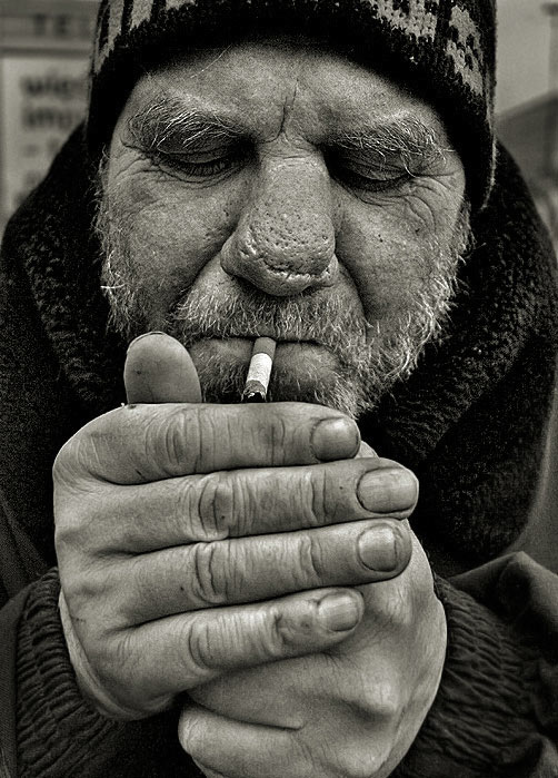 "photo ""a smoke"" tags: portrait, man"