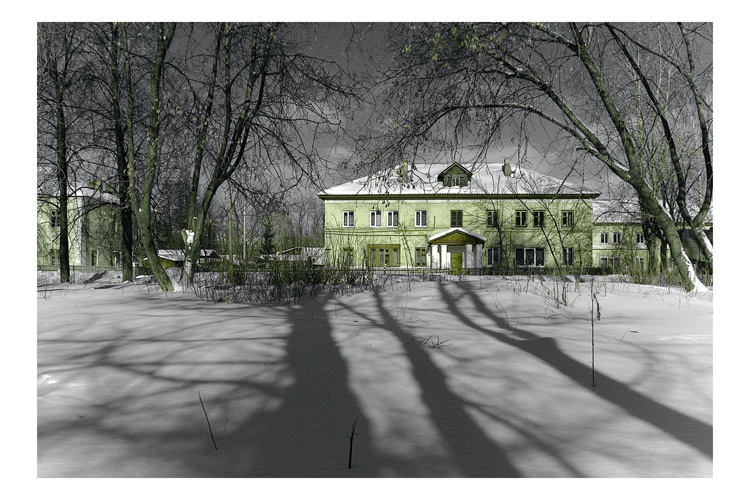 "photo ""Same Home"" tags: architecture, landscape, winter"