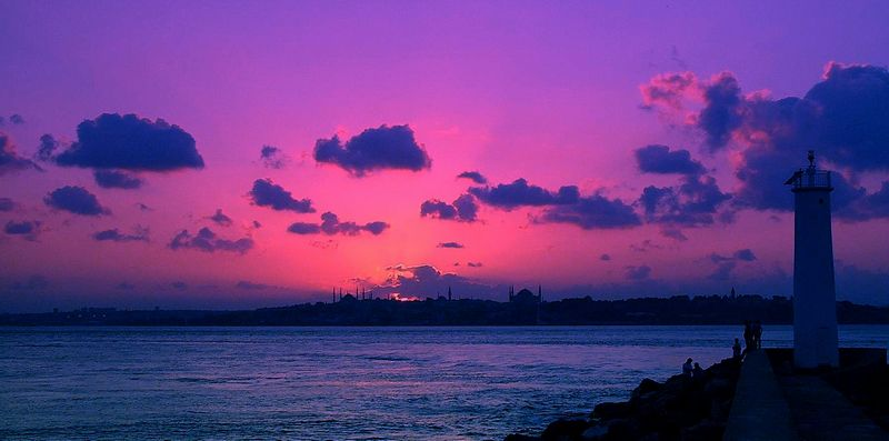 "photo ""An Istanbul Tale"" tags: landscape, night"