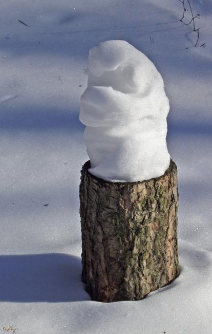 """фото """"Скульптуру надуло ..."""" метки: пейзаж, зима, лес"""