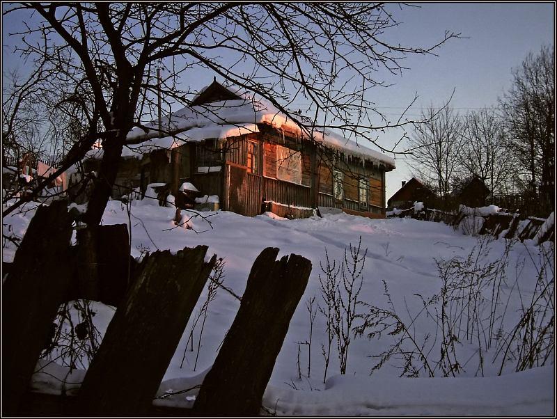 "фото ""Дом восходящего солнца"" метки: пейзаж, зима"
