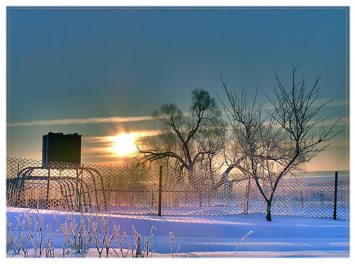 "photo ""Morning"" tags: landscape, winter"
