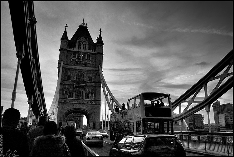 "фото ""Tower Bridge / London"" метки: архитектура, черно-белые, пейзаж,"