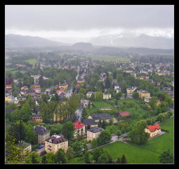 """фото """"Дождь над городом"""" метки: пейзаж, архитектура, горы"""