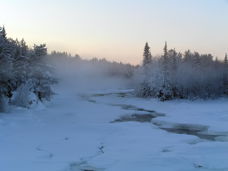"photo ""Winter river"" tags: landscape, nature, water"
