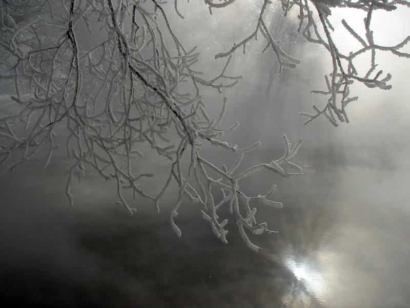 """фото """"Отражение."""" метки: пейзаж, вода, зима"""