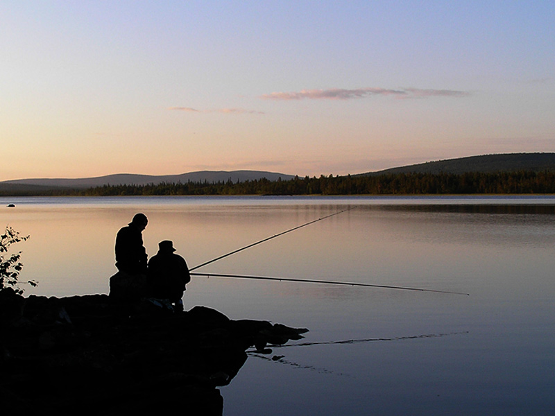 "photo ""Fishing"" tags: landscape, sunset, water"