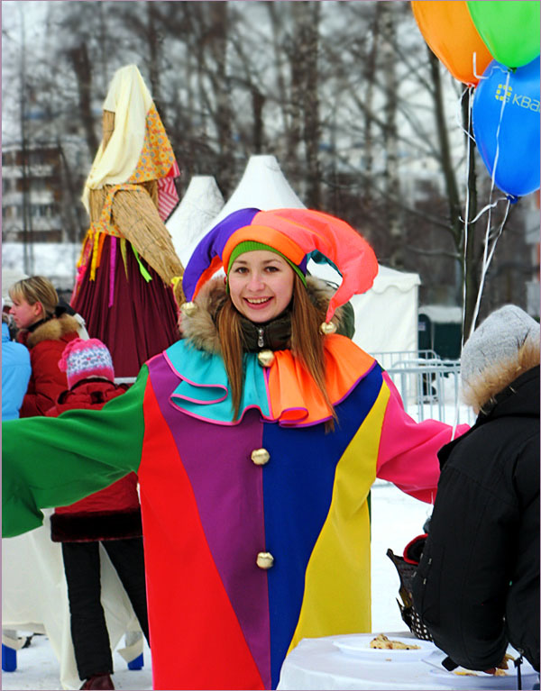 "photo ""Shrovetide's carnival"" tags: reporting, portrait, children"