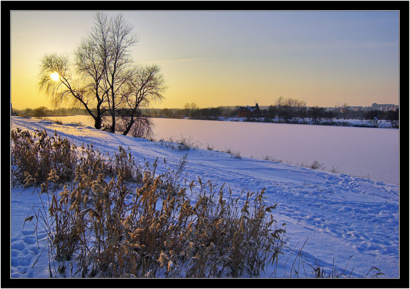 "photo ""so be it"" tags: landscape, sunset, winter"