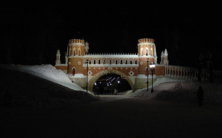 "photo ""Patterned Bridge at Tsaritsino"" tags: architecture, landscape,"