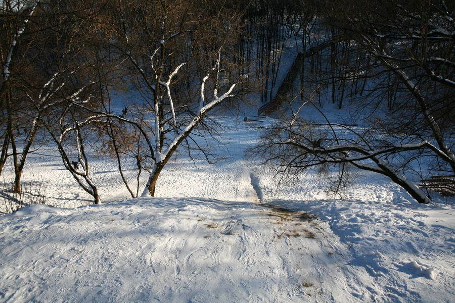 "photo ""Ice-hill"" tags: landscape, nature, winter"