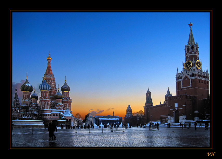"photo ""Sunset on the Red Square"" tags: landscape, architecture, sunset"