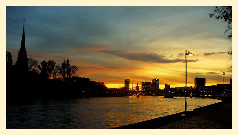 "фото ""the river by night"" метки: пейзаж, закат"