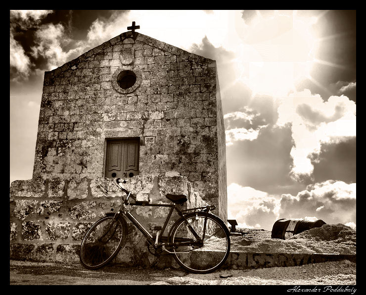 """фото """"у кельи отшельника...."""" метки: путешествия, черно-белые, Европа"""