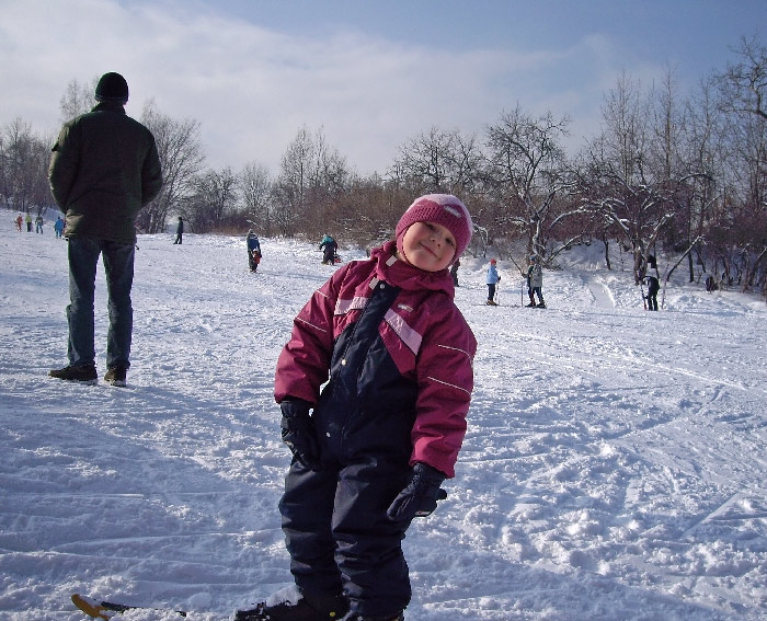 """фото """"Вот такая я юная лыжница :-)"""" метки: пейзаж, зима"""