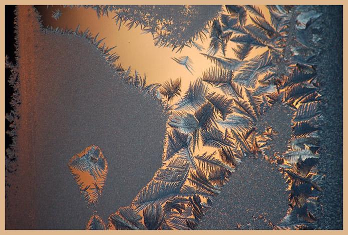 """фото """"Sun through the frozen window"""" метки: абстракция, макро и крупный план,"""