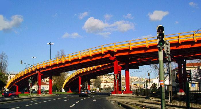 """photo """"The colored bridge"""" tags: architecture, landscape,"""
