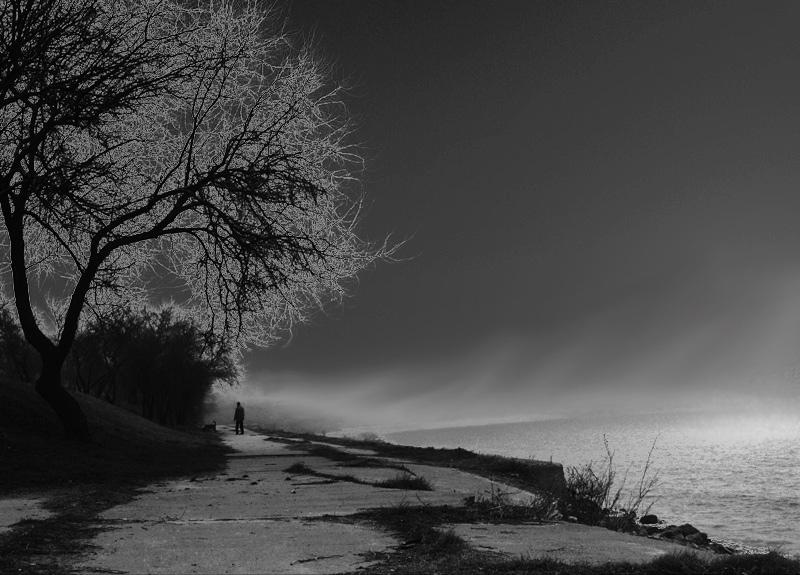 "фото ""***"" метки: черно-белые, пейзаж, вода"