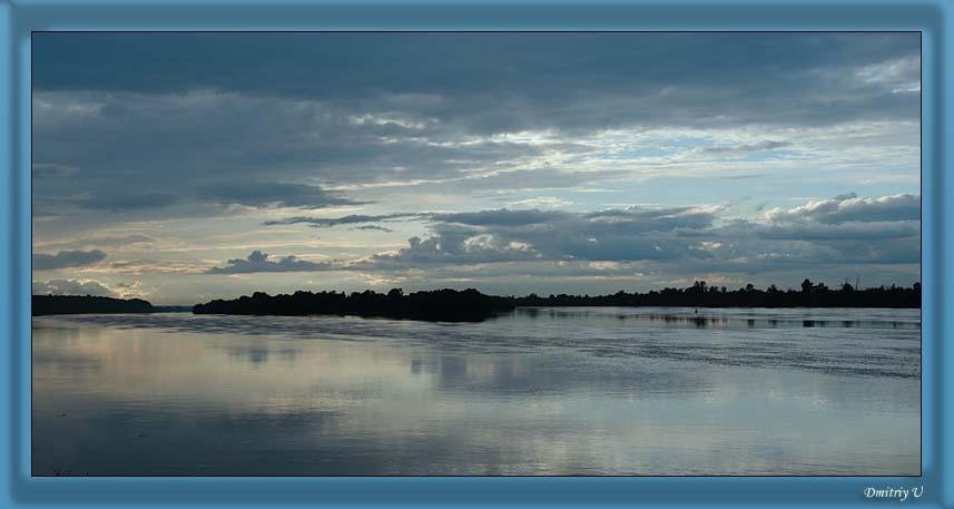 """фото """"Река Ока. Перед закатом"""" метки: пейзаж, вода, облака"""