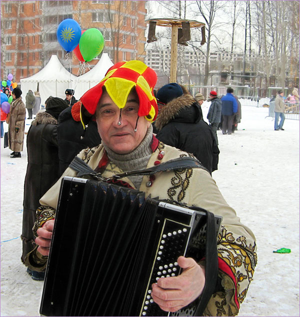 "photo ""man with harmony (""Shrovetide"")"" tags: ,"