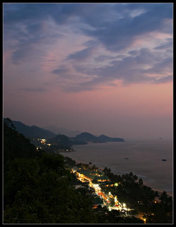 """фото """"Вечерние огни"""" метки: пейзаж, горы, закат"""