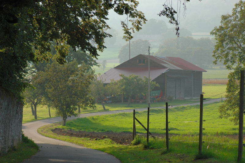 "photo ""The farm behind the village"" tags: landscape, architecture,"