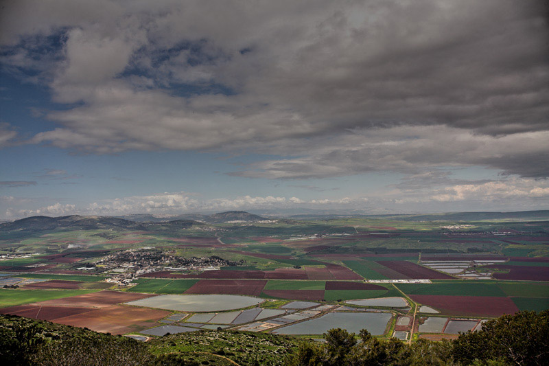 "photo ""Israel from the bird's flight"" tags: landscape, spring"