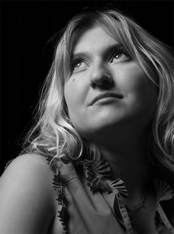 """photo """"Liza"""" tags: portrait, black&white, woman"""