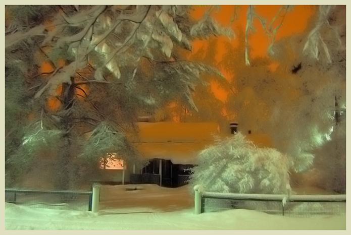 """фото """"Night fairy-tale"""" метки: пейзаж, зима, ночь"""