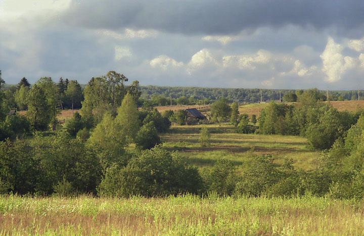 """фото """"Вечер."""" метки: пейзаж, лето, облака"""