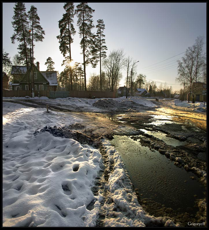 "photo ""Spring slush. Dibuni country"" tags: landscape, spring"