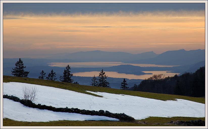"""фото """"Закат на двух озёрах"""" метки: пейзаж, горы, закат"""