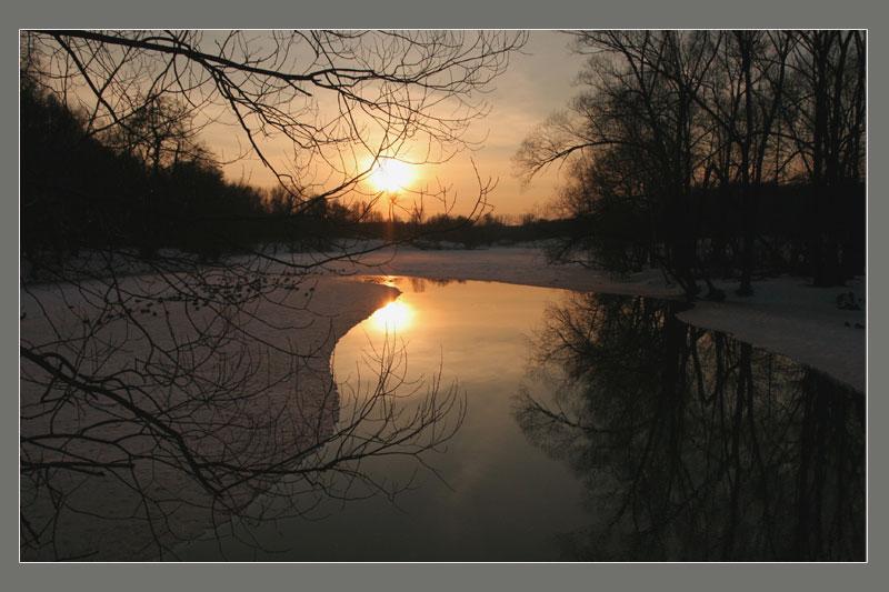 """фото """"Кузьминский пруд. Вечер.8 марта 2007 г."""" метки: ,"""