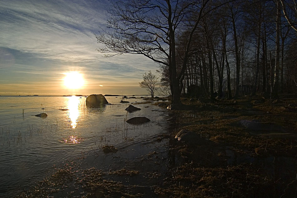 "photo ""Sunstroke"" tags: landscape, sunset, water"