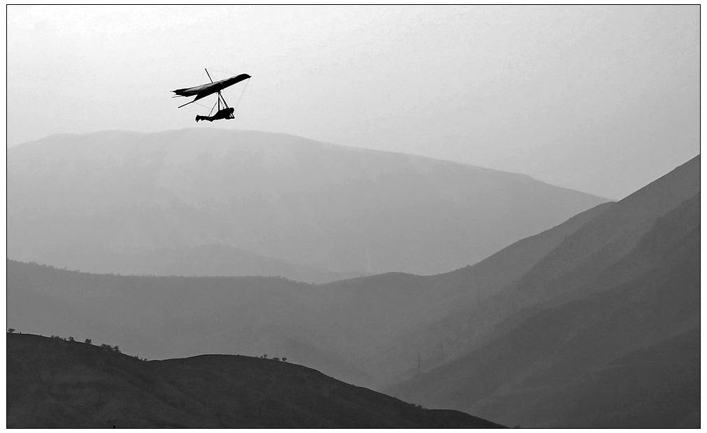 "фото ""Один в небе"" метки: пейзаж, спорт, горы"
