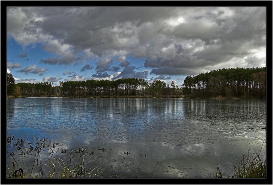 "фото ""У озера_2"" метки: пейзаж, вода, зима"